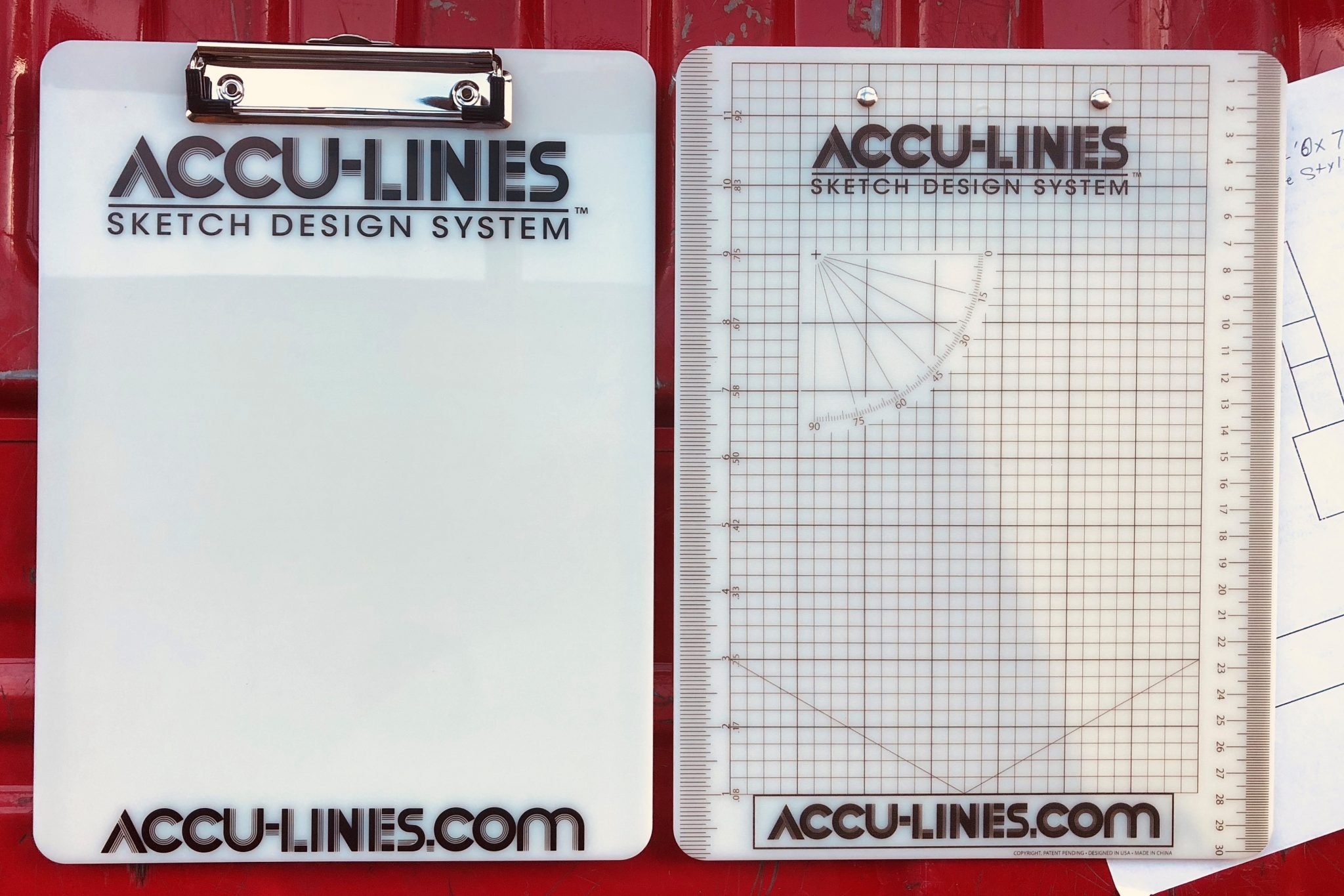 """AccuLines FlipBoard """"Uno"""" (Single Clip) – Fastened on Smooth Side ONLY, No Estimatics (Item SC-71)"""